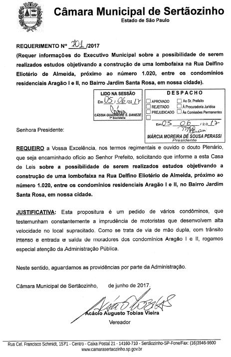 REQUERIMENTO_LOMBOFAIXA_ARAGAO_5.06.2017